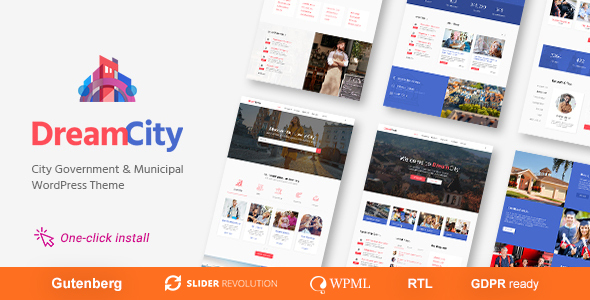 Dream City - Town Portal & Government Municipal WordPress Theme