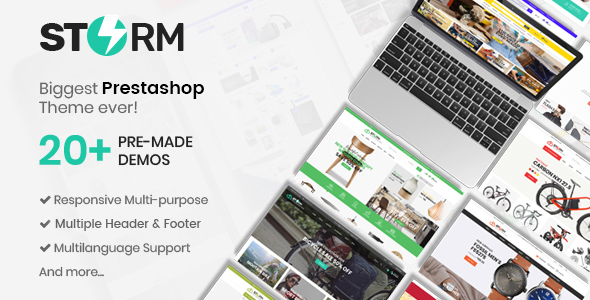 Storm - MultiStore Responsive Prestashop Theme