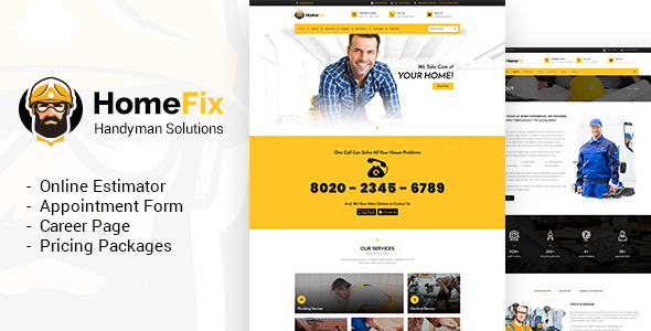 HomeFix - Handyman, Maintenance WordPress
