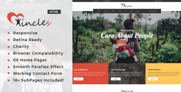 Incles - Responsive HTML Template for Charity & Fund Raising