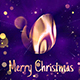 Christmas Logo Performance with Glitter Particles and Bokeh - VideoHive Item for Sale