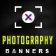 Photography Web Banner Set - GraphicRiver Item for Sale