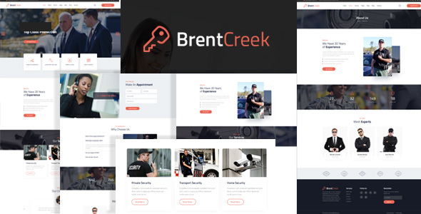 Brentcreek - Security Services HTML Template