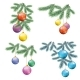 Christmas Background with Fir and Balls - GraphicRiver Item for Sale