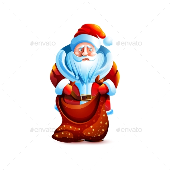 Santa Claus Empty Bag Without Gift