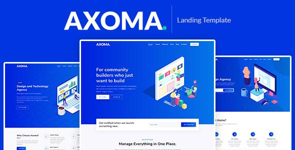 Axoma – Responsive Bootstrap 4 Landing Template
