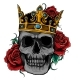 Vector Illustration Skull Wearing a King Crown - GraphicRiver Item for Sale