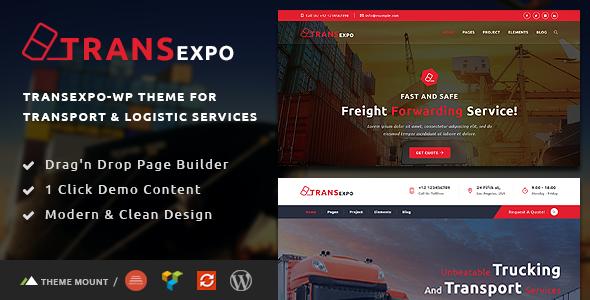 Transexpo - Logistics and Cargo Services WordPress Theme