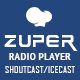 Zuper - Shoutcast and Icecast Radio Player With History - Addon For for WPBakery Page Builder - CodeCanyon Item for Sale