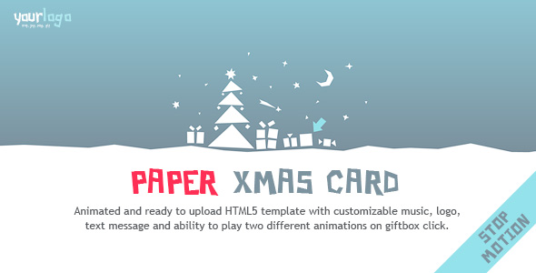Paper Christmas Card - Animated Creative HTML5 Template