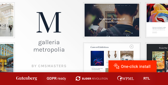 Galleria Metropolia -  Art Museum & Exhibition Gallery Theme