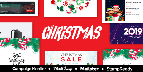 XMAS - Christmas & New Year Sale Multipurpose Responsive Email Template With StampReady Builder