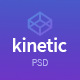 Kinetic - App Landing One Page PSD Template - ThemeForest Item for Sale