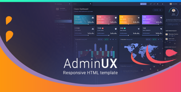 Admin UX | Bootstrap 4 Angular 4 Dashboard Responsive HTML template
