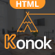 Konok - Architecture & Interior Bootstrap4 HTML Template - ThemeForest Item for Sale