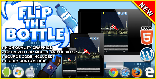 Flip The Bottle - HTML5 Skill Game