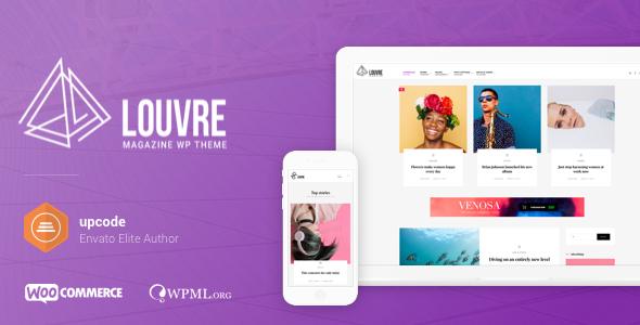 Louvre – Minimal Magazine and Blog WordPress Theme