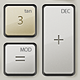 Electronic Calculator Interface - GraphicRiver Item for Sale