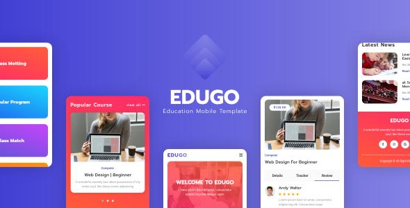 Edugo - Education Mobile Template