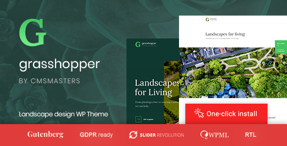 Grasshopper - Landscape Design and Gardening Services WP Theme