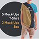 5 Moch-Ups Long T-Shirts + 2 Mock-Ups Packing Boxes - GraphicRiver Item for Sale