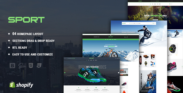 Sports - Sportswear Responsive Drag & Drop Shopify Theme