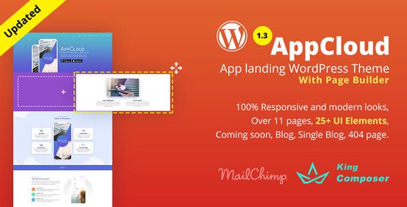 AppCloud | App Landing WordPress Theme