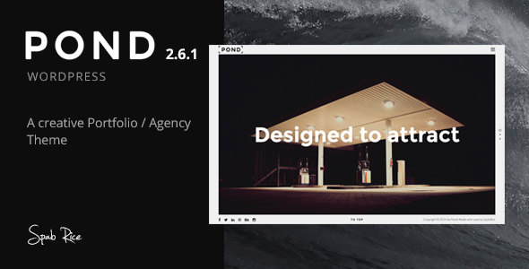 Pond - Creative Portfolio / Agency WordPress Theme