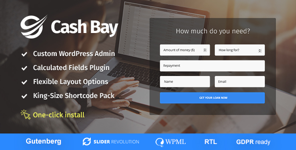 Cash Bay - Loan & Credit Money WP Theme