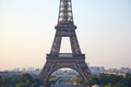 Eiffel tower detail from Trocadero in a clear summer morning in Paris - PhotoDune Item for Sale