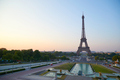 Eiffel tower at sunrise, seen from Trocadero in Paris, France - PhotoDune Item for Sale