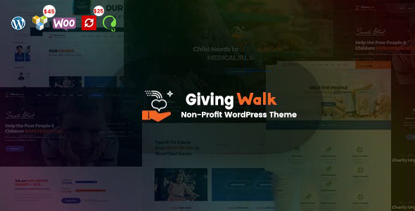 GivingWalk – Multipurpose Nonprofit WordPress Theme