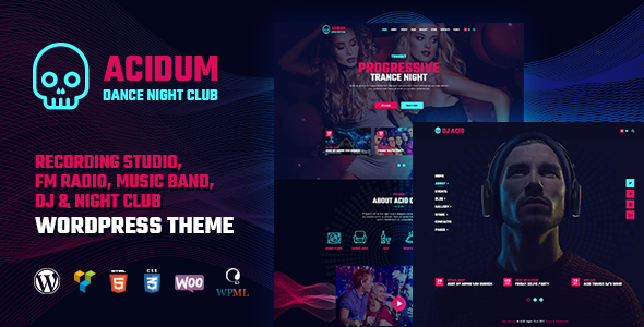 Acidum - Night Club and DJ WordPress Theme