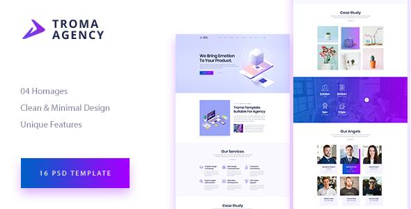 TROMA – Creative Agency PSD Template