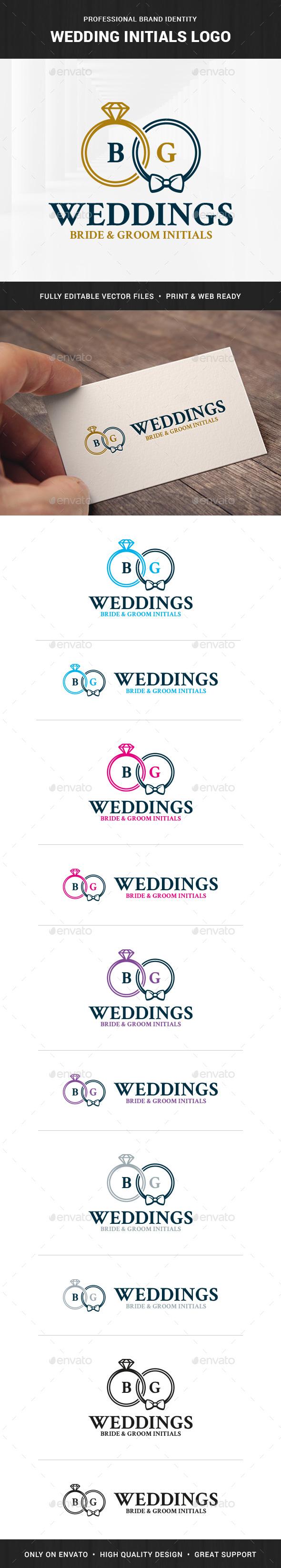 Wedding Initials Logo Template