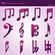 3D Musical Notes Symbols (55 pcs) - 3DOcean Item for Sale