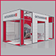 Octanorm Exhibition Stand 8m x 4m 3D Model - 3DOcean Item for Sale