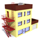 Low Poly Building 02 - 3DOcean Item for Sale