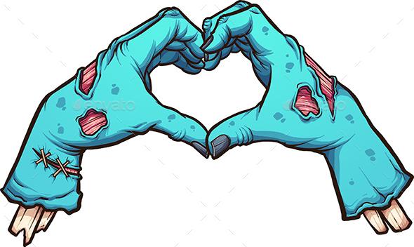 Valentine Zombie Hands