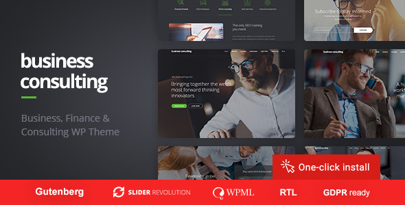 Business Consulting - WordPress Theme for Personal Coaching, Motivation and Training