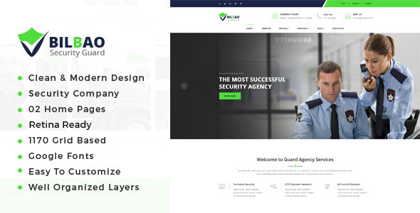 Bilbao - Security Services HTML Template