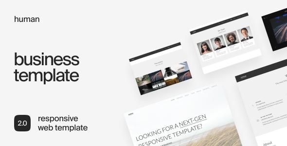 Human - Responsive HTML5 Business Template