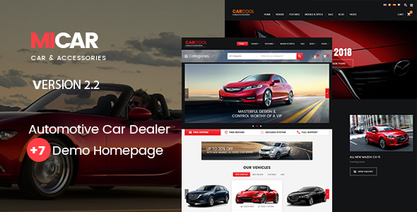Micar -  Auto Dealer RTL WooCommerce WordPress for Car and Moto Theme
