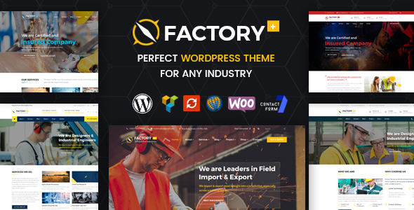 Factory Plus - Industry / Factory / Engineering and Construction Business WordPress Theme