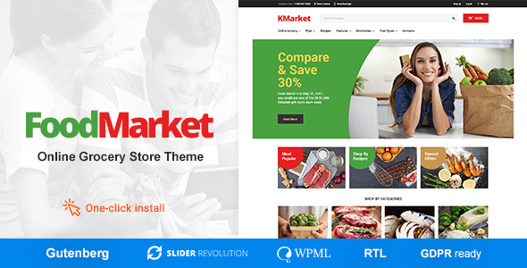 Food Market - Grocery Store and Shop WordPress Theme