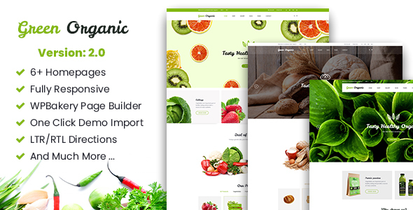 Greenorganic - WooCommerce WordPress Theme