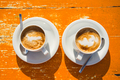 Two wonderful cups of coffee on the table - PhotoDune Item for Sale