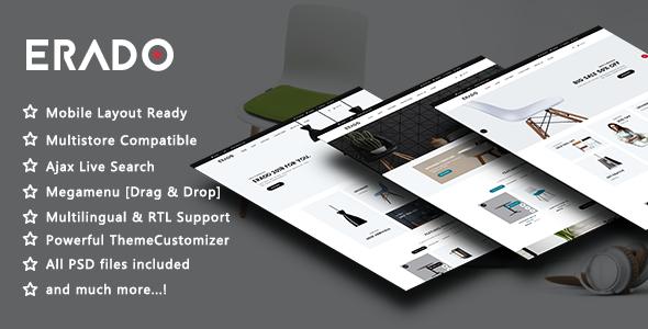 Erado - Elegant Furniture Responsive PrestaShop 1.7 Theme