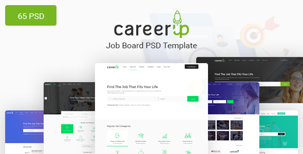 CareerUp - The Most Popular Job Board PSD Template