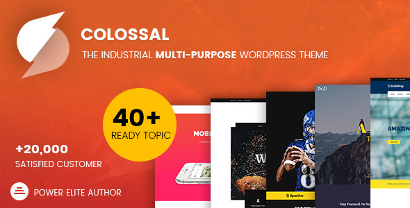 Colossal - Industrial multi-purpose WordPress Theme